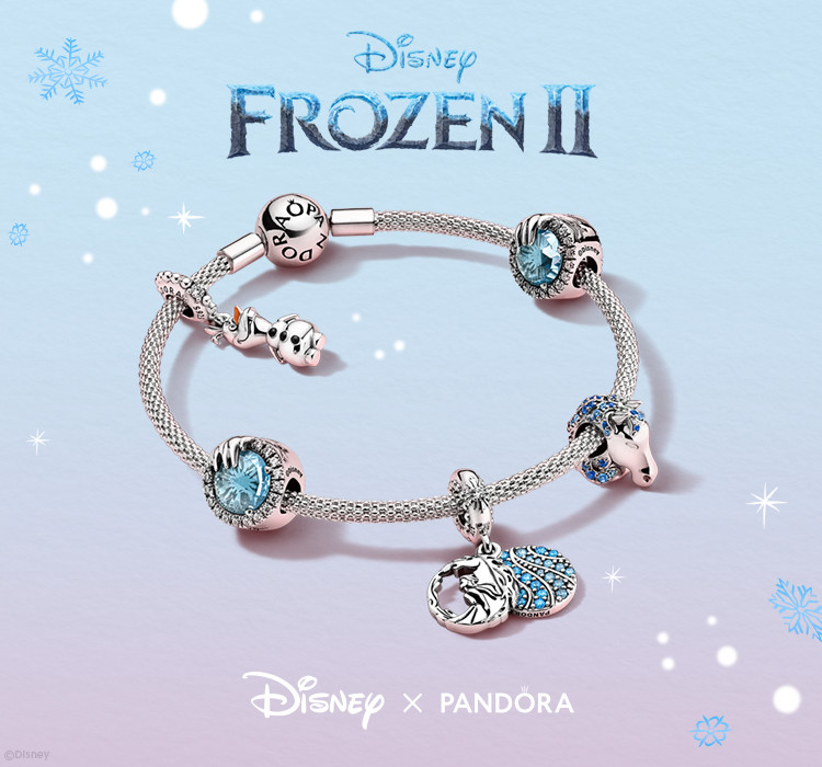 Collect your favourite character charms with the new Disney x Pandora Frozen 2 collection